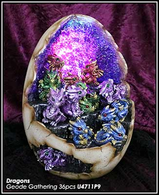 Dragon Geode Egg set of 36