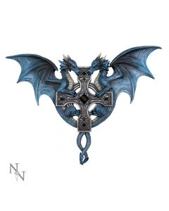 Dragon Duo Wall Plaque (AS) 34cm