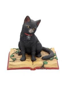 Eclipse Cat Spell Book Figurine Wiccan Witch Gothic Ornament Back in Stock