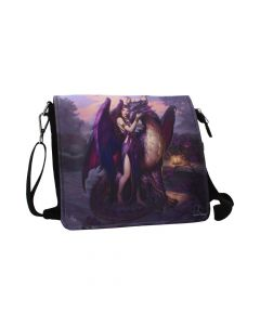 Dragon Sanctuary Embossed Shoulder Bag (JR) 25cm