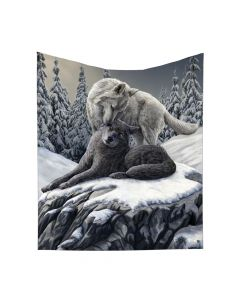 Lisa Parker Snow Kisses Throw Wolf Couple Blanket Mother's Day
