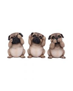 Three Wise Pugs 8.5cm Dogs Popular Products - Light Premium Range