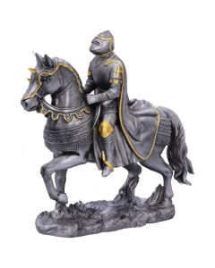 Set of Six small Medieval War Horse and Armoured Rider Figurines NN Small Figurines