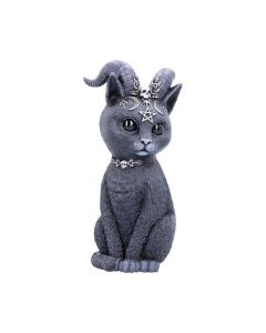 Large Pawzuph Horned Occult Cat Figurine New Product Launch