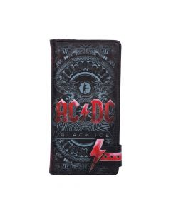 ACDC Black Ice Embossed Purse 18.5cm Band Licenses ACDC