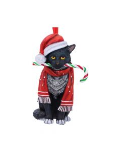 Candy Cane Cat Hanging Ornament (LP) 9cm Cats Christmas Collection
