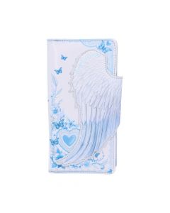 White Angel Wings Embossed Purse 18.5cm Angels Gift Ideas