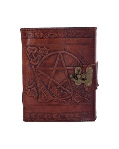 Pentagram Leather Emboss Journal+Lock(SIW) Witchcraft & Wiccan Wiccan & Witchcraft