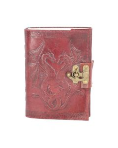 Double Dragon Leather Embossed Journal & Lock Dragons Dragons