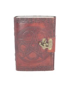 Pentagram Leather Embossed Journal & Lock Witchcraft & Wiccan Wiccan & Witchcraft