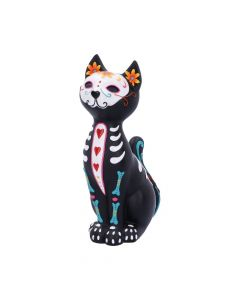 Sugar Puss Figurine Day of the Dead Cat Ornament Day of the Dead