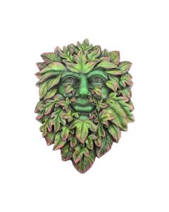 Autumn/'s Reflection Green Man Tree Spirit Pagan Wall Plaque 15.5cm nemesis now
