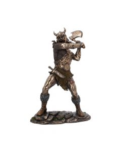 Berserker bronze Viking medium warrior figurine with axe Medieval