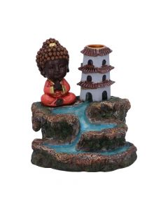 Zen Temple Backflow Incense Burner 13cm Buddhas and Spirituality New in Stock Unspecified