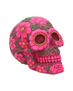 Sugar Blossom Pink Floral Skull Money Box Skulls
