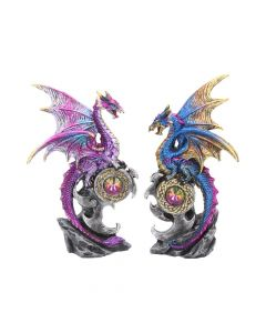 Realm Protectors Figurines Set of Two Fantasy Dragon Crystal Ornaments Dragons