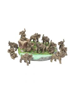 Playful Elephants Display with 12pcs  8cm