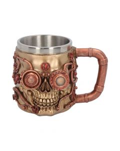 Steaming Tankard 15.3cm Skulls Steampunk Value Range