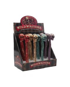 Wild Writer Skull Pens 16cm (Display of 12)