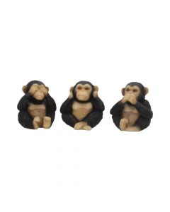 Three Wise Chimps 8cm Apes & Primates Back in Stock Value Range