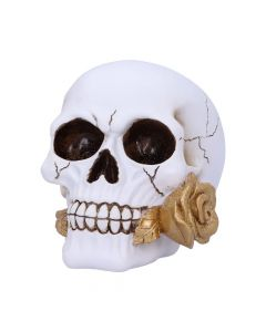 Floral Fate Golden Rose Skull Ornament. New in Stock