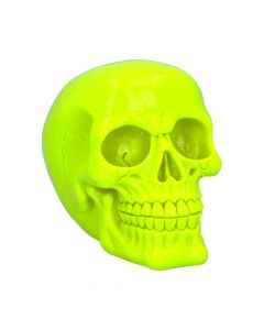 Psychedelic Skull Yellow 15.5cm Skulls New in Stock Value Range