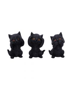 Three Wise Kitties 8.8cm Cats New in Stock Value Range