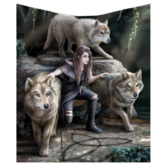 Power of Three Throw (AS) 160cm Wolves New in Stock Artist Collections