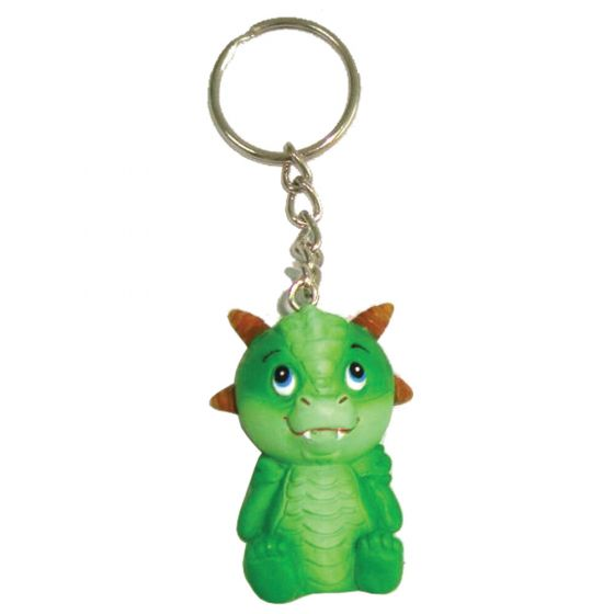 Adorable Dragon Keyring - Green 5.5cm (Pack of 12)