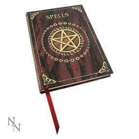 Embossed Spell Book Red 17cm