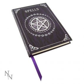 Embossed Spell Book Purple 17cm