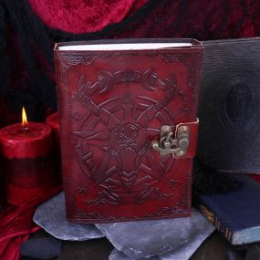 Baphomet Leather Journal 15x21cm