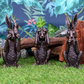 Three Wise Hares 14cm