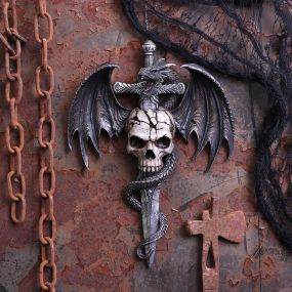 Draco Skull Wall Plaque 36.5cm