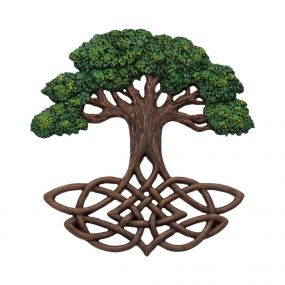 Tree of Life Wall Plaque (Painted) 33cm