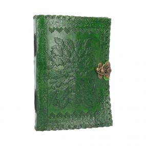 Greenman Leather Journal & Lock 25 x 18cm