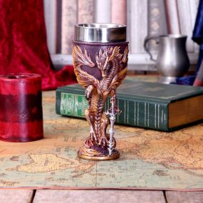Flame Blade Goblet by Ruth Thompson 17.8cm