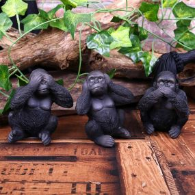 Three Wise Apes 8cm