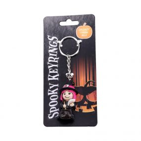 Spooky Keyrings Witch 5.5cm (Pack of 12)