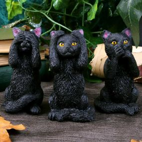 Three Wise Felines 8.5cm