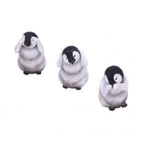 Three Wise Penguins 8.7cm