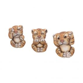 Three Wise Tigers 8cm