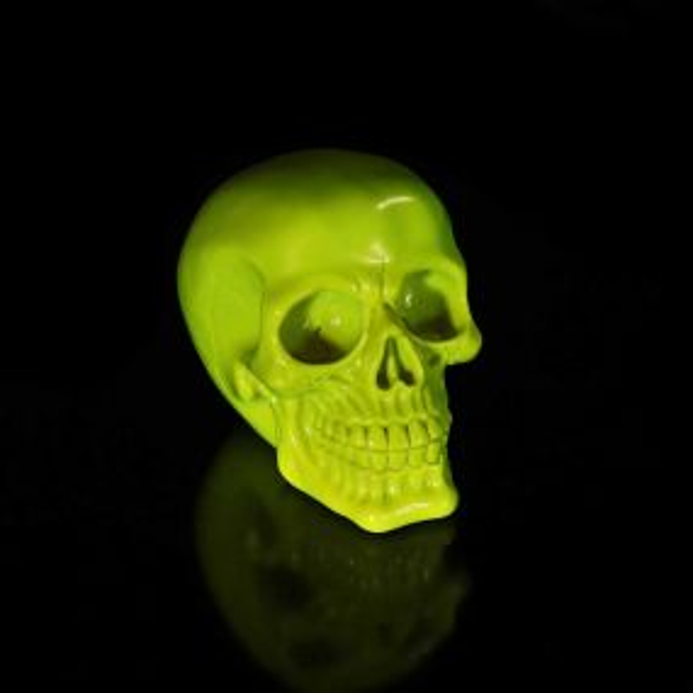 Psychedelic Skull Yellow 15.5cm
