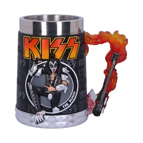 KISS Flame Range The Demon Tankard 14.5cm Band Licenses In Demand Licenses Artist Collections