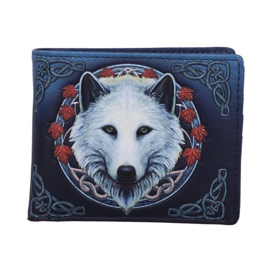 Lisa Parker Guardian of the Fall White Autumn Wolf Wallet New Product Launch