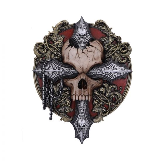 Cross Of Darkness Wall Plaque 32cm Skulls New in Stock Artist Collections