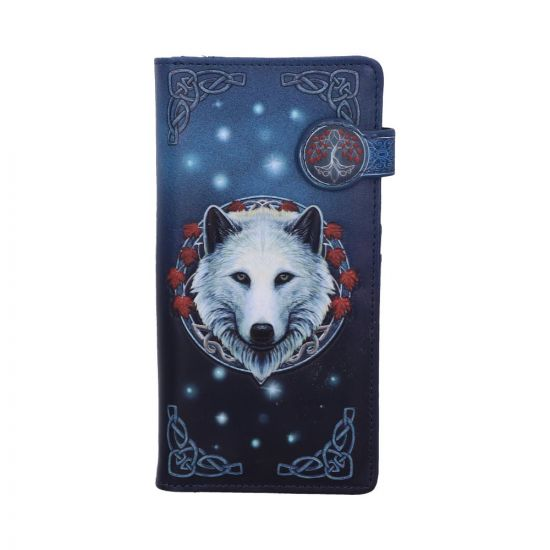 Lisa Parker Guardian of the Fall White Autumn Wolf Embossed Purse New in Stock