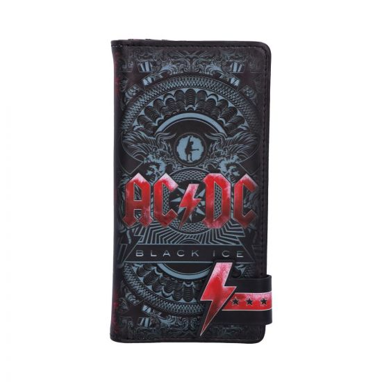 ACDC Black Ice Embossed Purse 18.5cm Band Licenses New in Stock