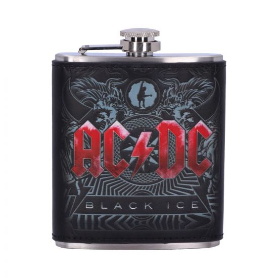 ACDC Black Ice Hip Flask Band Licenses New in Stock