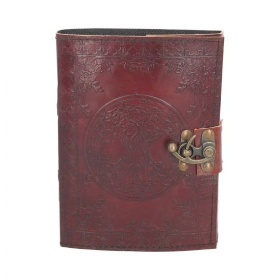 Tree Of Life Leather Journal w/lock 15 x 21cm